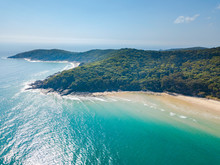 Noosa National Park Aerial View With Blue Turquoise Water