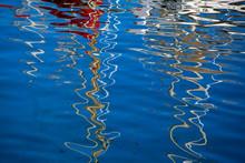 Reflections In The Marina Of Las Palmas De Gran Canaria