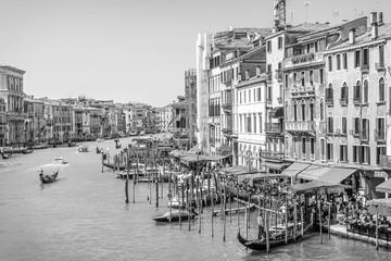 Panel Szklany Podświetlane Wenecja Black and White Venice, Canal Grande, Italy