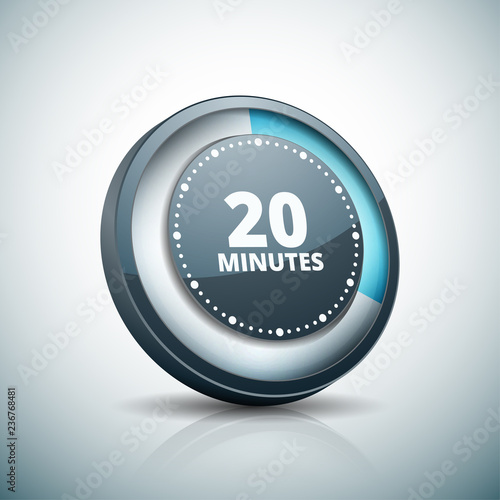 Photographie  20 Minutes Time button illustration