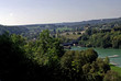 Blick über die Zinnen auf den Wöhrsee - Urbett oder alter Flussarm der Salzach