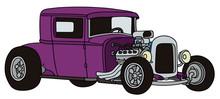 The Funny Purple Hotrod