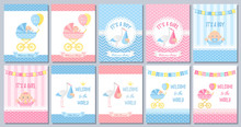 Baby Shower Boy Card. Vector B...