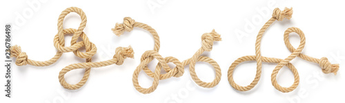Obraz ship rope isolated on white - fototapety do salonu