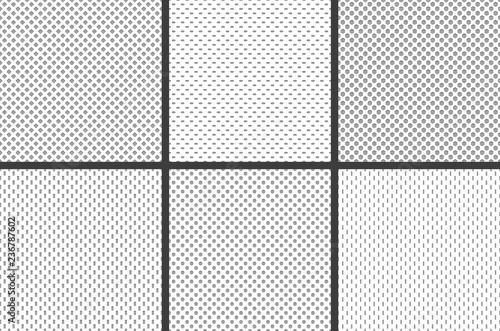 Sport jersey fabric textures. Athletic textile mesh material structure texture, nylon sports wear grid cloth seamless vector pattern