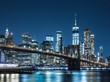 ブルックリン・ブリッジとマンハッタンの摩天楼