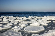 Melting Ice On The Sea.