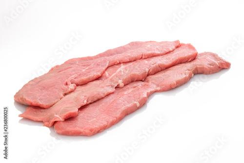 Drei Scheiben Kalbsschnitzel Schnitzel Fleisch roh