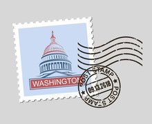 Postage Stamp With American Sy...