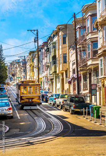 san, francisco, cable, car, california, america, street, usa