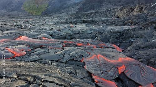 Lava Flow from Hawaiian Volcano