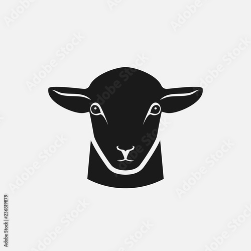 Fotomural head of sheep silhouette