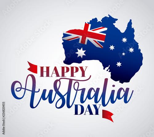 Obraz na plátně happy australia day