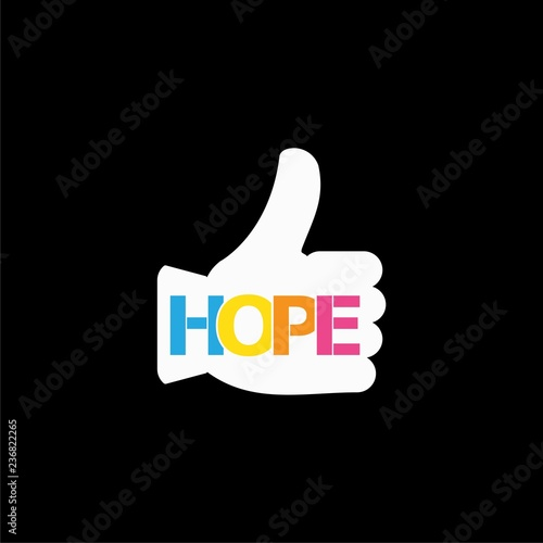 Photo  HOPE icon or logo on dark background