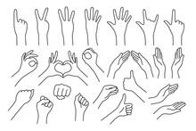 Set Of Realistic Gestures Hand...