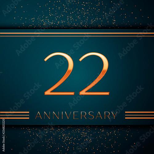 Fotografia  Realistic Twenty two Years Anniversary Celebration design banner