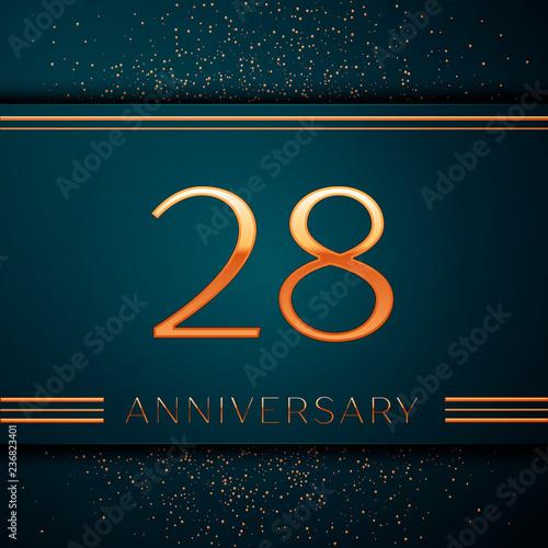 Fotografia  Realistic Twenty eight Years Anniversary Celebration design banner