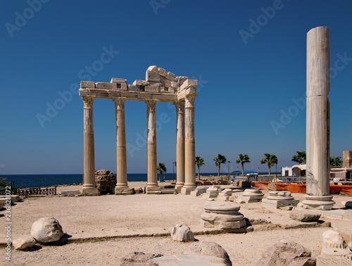 Poster Turquie Apollotempel in Side, Antalya Province, Türkei