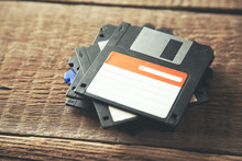 Floppy Disk On Table