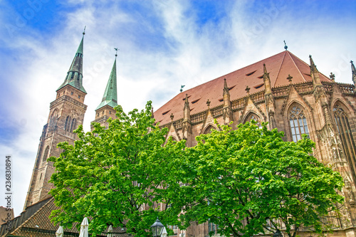 Obraz na plátně  Church in Nuremberg