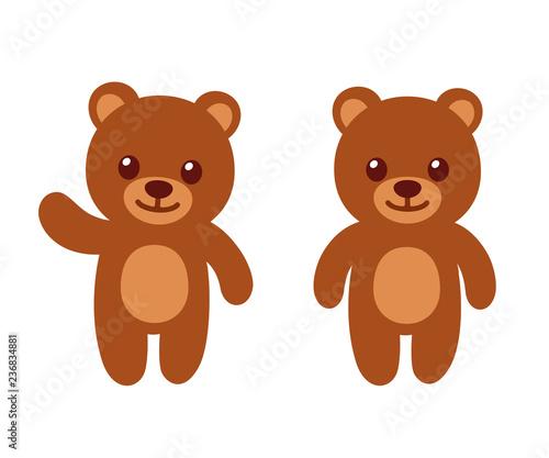 Fotografia, Obraz Simple cartoon teddy bear