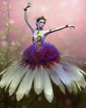 Dancing Flower, 3d CG