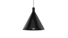3D Illustration Of Concept Cone Shaped Pendant Lamp