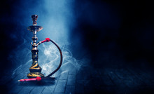 Hookah On A Dark Abstract Back...