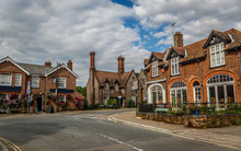 Street Of An English Town With...