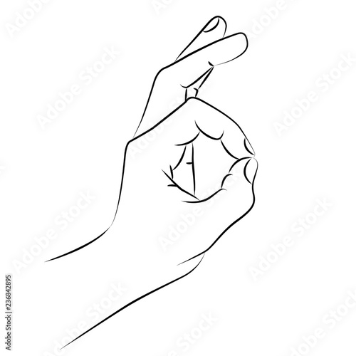 Strichzeichnung Finger Hand Loch Buy This Stock Illustration And