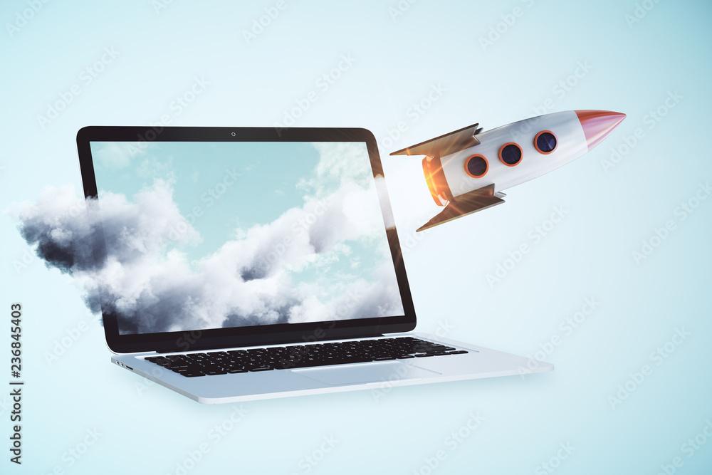 Fototapety, obrazy: Online startup concept