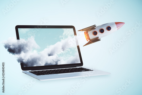 Photo Online startup concept