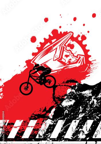 Fotomural  Extreme mountain biking design