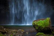 Close Up View Of The Famous Multnomah Falls, In Oregon, USA