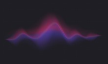 Abstract Sound Wave. Voice Dig...