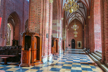 Interior of cathedral in Poznan, Poland