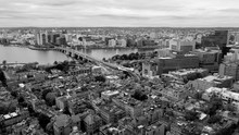 Aerial View Black And White Bo...