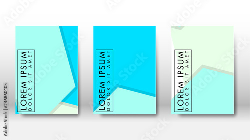Fototapeta Abstract cover with hexagon elements. book design concept. Futuristic business layout. Digital poster template. obraz na płótnie