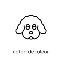 Coton De Tulear Dog Icon. Tren...