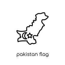 Pakistan Flag Icon. Trendy Mod...