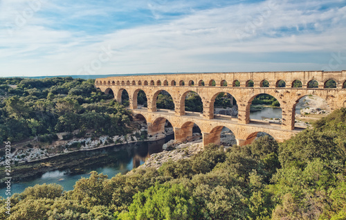 Fotografering Roman Aqueduct, Pont du Gard