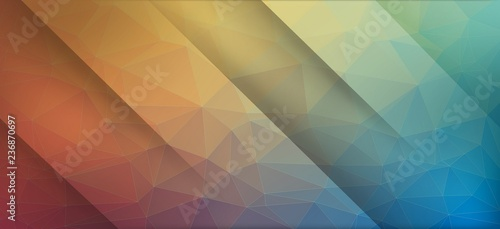 Colorful flat background with triangles. Eps10 vector.