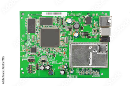 Valokuva  Green modem motherboard