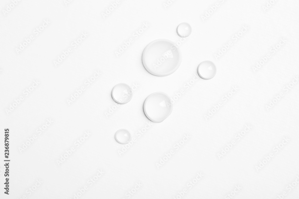 Fototapety, obrazy: Water drops on white background, top view