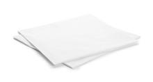 Clean Paper Napkins On White B...