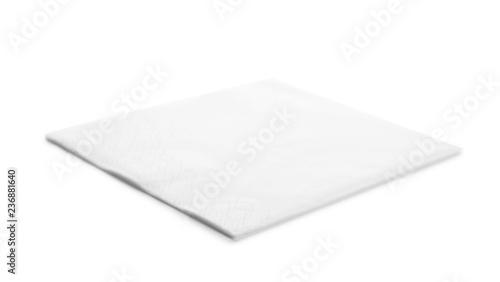 Fototapeta One clean paper napkin on white background obraz