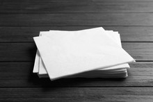 Stack Of Clean Paper Napkins O...