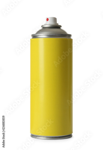 Photo Can of spray paint on white background