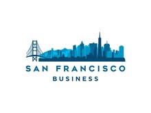 San Francisco Modern City Landscape Skyline Logo Design Inspiration