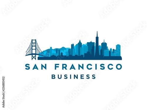 San Francisco Modern City Landscape Skyline Logo Design Inspiration Buy This Stock Vector And Explore Similar Vectors At Adobe Stock Adobe Stock
